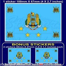 RUMÄNIEN Luftwaffe Flagge RUMÄNISCHER Fahne Sticker, Aufkleber 100mm x1+2 BONUS