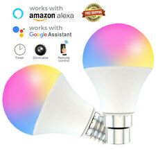WiFi Smart Light Bulb E27 RGB+CCT LED Lamp Amazon Alexa/Google Home Control