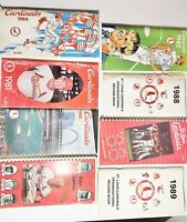 8 1980s St Louis Cardinals Media Guides World Series years 82 and 85
