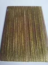 5M 7mm Gold Lurex Sparkle Organza Metallic Ribbon - Wedding Christmas Xmas Art