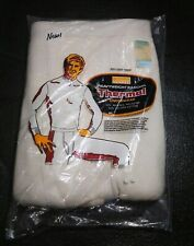 Thermal Long John underwear cream Sz 34 M new vtg men's combed Montgomery Ward