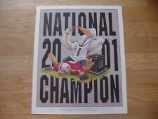 2001 Miami Hurricanes National Champs Limited Edition Print-Rare/Very Cool Art