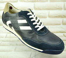 LLOYD ARTUS Mens Casual Trainers Sneakers Blue Grey Leather Shoes 9.5 UK 44 EU