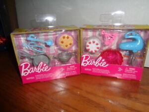BARBIE DOLL CAKE AND SPAGHETTI  ACCESSORIES