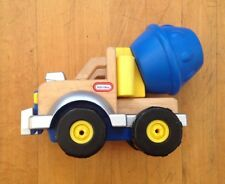 Vintage 2003  LITTLE TIKES Wooden Shape Mixer Truck Toy Complete