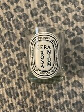 EMPTY Diptyque Geranium Rosa Candle Jar Glass 6.5 oz
