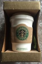 STARBUCKS COFFEE 2008 CERAMIC TO GO CUP MUG ORNAMENT MINT UNOPENED 1129472