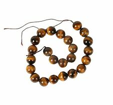String of 16mm Round Tiger Eye Beads for Jewellery Making (TIG004S)