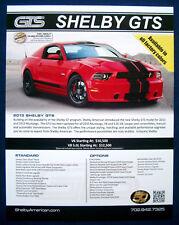 Prospekt brochure Datenblatt 2013 Ford Mustang Shelby GTS (USA)