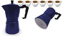 Espresso Stove Top Coffee Maker Continental Moka Percolator Pot 6 Cup Navy