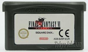 Jeu Final Fantasy 6 - VI Nintendo Game boy Advance GBA SP / DS Lite / PAL EUR