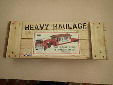 Corgi Heavy Haulage 1:50 CC13110 Volvo F88 Low Lder & Load Heanor Untouched