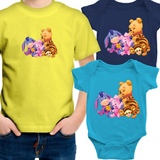 Toddler Kids Tee Youth T-Shirt Infant Baby Bodysuit Gift Cute Pooh Tigger Piglet