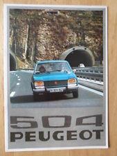 PEUGEOT 504 GL & TI SALOONS 1976 UK Mkt Sales Brochure
