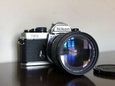 Nikon FM2n chrome manual SLR with Tokina AT-X 28-85mm f3.5-4.5