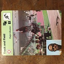 1977-79 SPORTSCASTER #13-17 RALPH BOSTON JUMBO CARD  TRACK AND FIELD