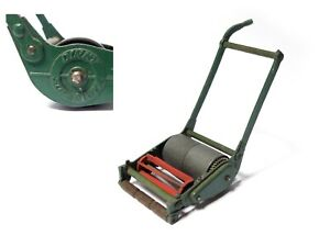 """Vintage 1950s DINKY #751 SUPERTOYS 4"""" green red LAWNMOWER"""