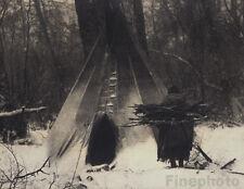 1900/72 Vintage Native AMERICAN INDIAN Apsaroke Winter Photo Art ~ EDWARD CURTIS