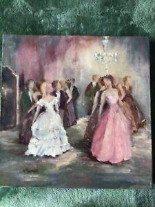 Gail McCormack original acrylic on canvas. The last dance
