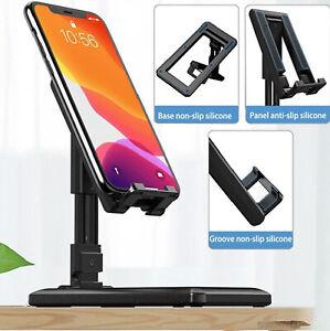 Mobile Phone Tablet Desk Top Stand Bracket Holder Foldable Adjustable Universal