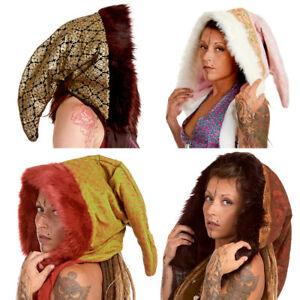 Furry Pixie Hood, Fluffy Spirit Hood, Party Rave Hood, Fairy Festival Winter Hat