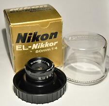 NIKON EL-Nikkor 50mm f4 con box e campana  ECCELLENTI CONDIZIONI -  COME NUOVO