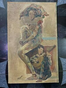 excellent painting,oil on old canvas,masterpiece of old painter,signed PICASSO