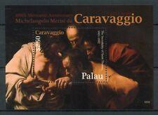 Palau 2010 MNH Michelangelo Merisi da Caravaggio 400th Anniv 1v S/S Art Stamps