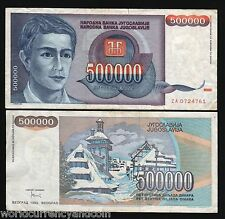 YUGOSLAVIA SERBIA 500000 500,000 DINAR P119 1993*REPLACEMENT* ZA MONEY BILL NOTE