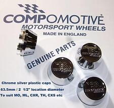 4 Genuine CHROME caps for COMPOMOTIVE alloys MO TH2 ML CXR TH Mono