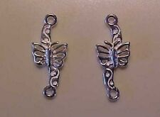 Trad 1:9 Model Horse Scale BUTTERFLY COSTUME BIT Silver