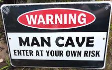 Warning Man Cave Novelty Bar Sign Shed Rumpus Games Room Mancave Mens Gift Signs