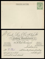 GREAT BRITAIN OLD POSTAL STATIONERY CARD