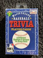 Major League Baseball Trivia Playing Cards 1996