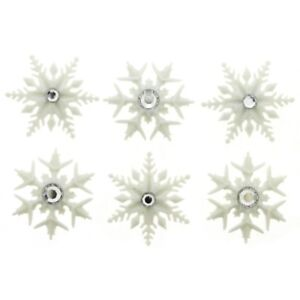 6 Fancy Snowflakes Dress It Up Holiday Collection Paper Craft Embellishments