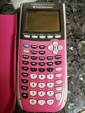 TI-84 Silver Edition Graphing Calculator w/Cover PINK