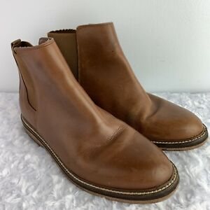 Kelsi Dagger Leather Ankle Boots Size 9
