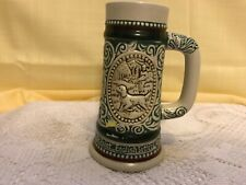 """Avon 1983 Handcrafted In Brazil """"Rainbow Trout & English Setter"""" Mini Beer Stein"""