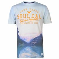 Mens SoulCal Deluxe City T Shirt Crew Neck Short Sleeve New