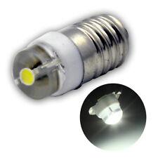 4X 0.5W E10 COB LED 6000K 100LM White Bulb MES Screw Torch Headlamps/Light 3V DC