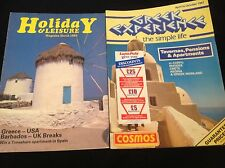 2 VINTAGE 1985-87 COSMOS LEISURE USA GREECE HOLIDAY BROCHURE