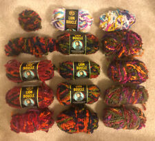 Lot of Lion Brand Yarn Lion Boucle skeins