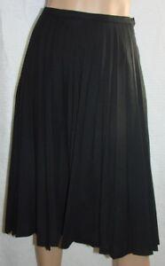 "Windsmore Accordion Pleated Lined Black Skirt UK Size 10 Waist 22-24"" Vintage"