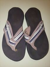 Women's Nike Celso Thong Flip Flops Sandals Slippers Purple Lavender Striped Sz6