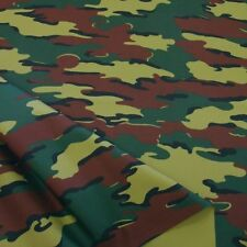 Camouflage Segeltuch Uniform Baumwoll-Stoff robuste Meterware Belgien Tarnmuster