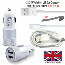 Coche Rápido Dual Cargador Plus Micro Carga USB Cable Samsung Galaxy S7 Borde