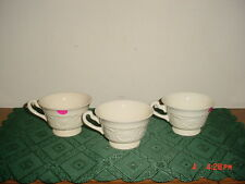 """3-PIECE WEDGWOOD """"PATRICIAN"""" 4 3/4"""" COFFEE CUPS/ENGLAND/CREAM/AS IS/CLEARANCE!"""
