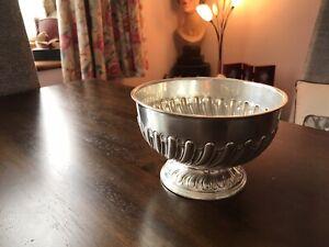 Sterling Silver Victorian Rose Bowl 1895 Rare Sheffield James Deakin Hallmarked