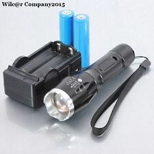 Military Grade Tactical LED Flashlight 1600LM Battery Charger 18650 X800 Style
