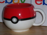 Pokemon Ball Coffee Mug Cup Red, White & Black 2014 Just Funky used MAKE OFFER!